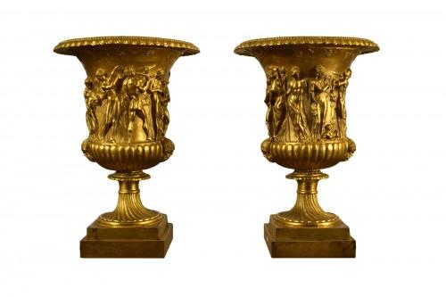 Paire de vases en bronze