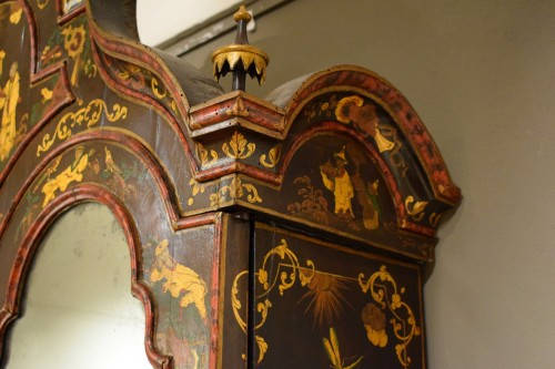 18th Century Polychrome Lacquered Wood Venice Bureau Cabinet - Louis XIV