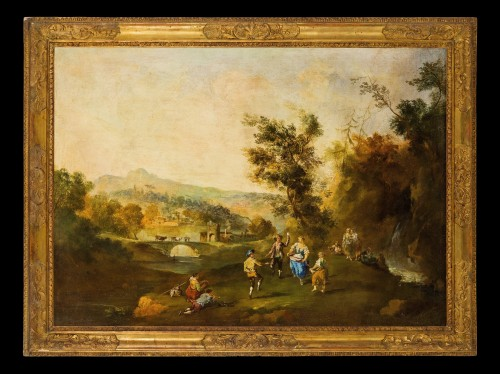 Paintings & Drawings  - Country and river landscapes - Venetian school of the 19th century