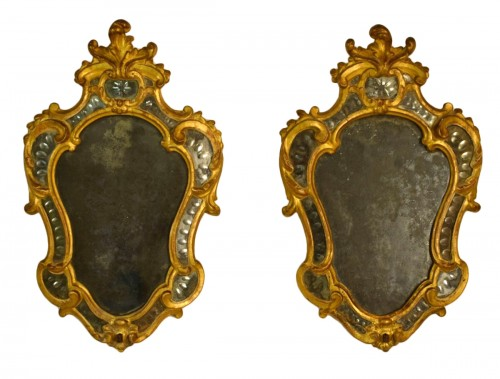 Pair of 18th Century Piedmontese Gilt Wood mirror