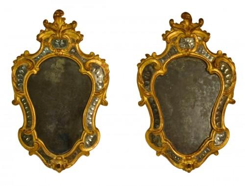 Pair of 18th Century Piedmontese Gilt Wood mirror