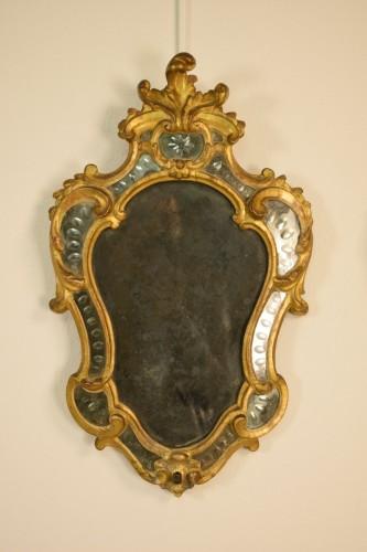 Mirrors, Trumeau  - Pair of 18th Century Piedmontese Gilt Wood mirror