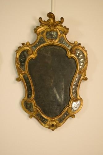 Pair of 18th Century Piedmontese Gilt Wood mirror -