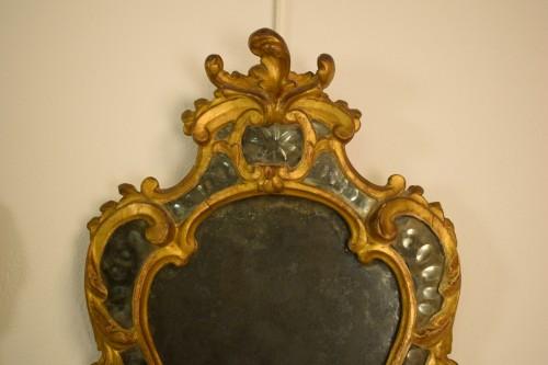 Pair of 18th Century Piedmontese Gilt Wood mirror - Louis XV