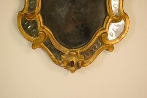Antiquités - Pair of 18th Century Piedmontese Gilt Wood mirror