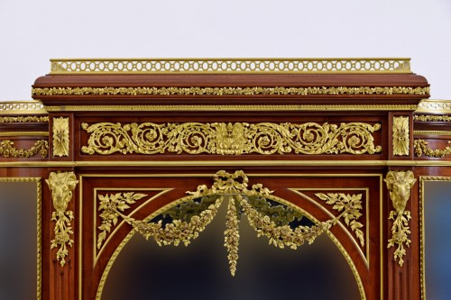 Furniture  - 19th century, Mahogany and Gilt Bronze French Showcase