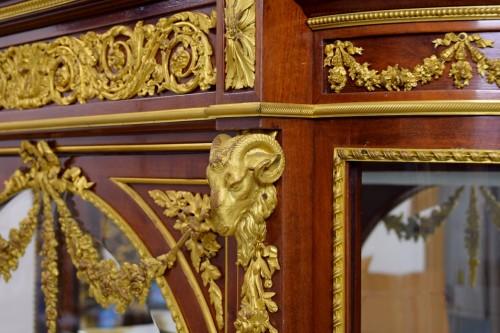 19th century - 19th century, Mahogany and Gilt Bronze French Showcase