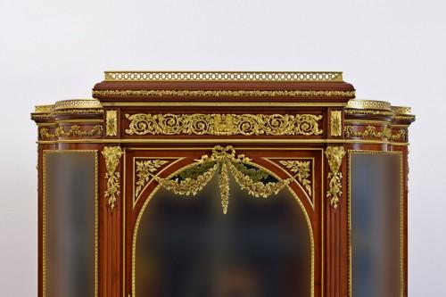 19th century, Mahogany and Gilt Bronze French Showcase  - Napoléon III