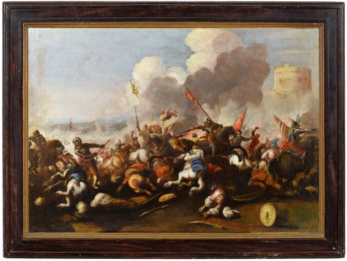 Antonio Calza (1653 – 1725) - Battle between Christian and Turkish cavalry