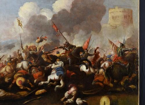 Antonio Calza (1653 – 1725) - Battle between Christian and Turkish cavalry  -