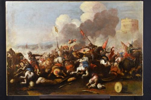 17th century - Antonio Calza (1653 – 1725) - Battle between Christian and Turkish cavalry
