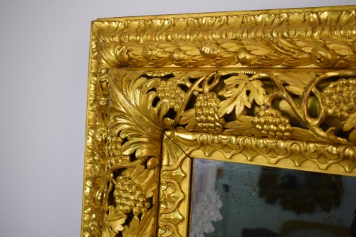 19th Century, finely carved and gilded wood venetian mirror  -