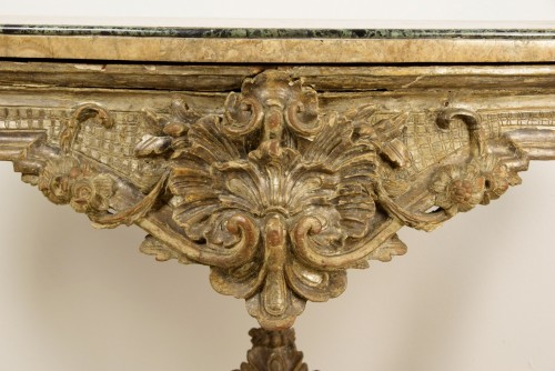 Antiquités - 18th Century, Italian Carved and Silvered Wood Consolle