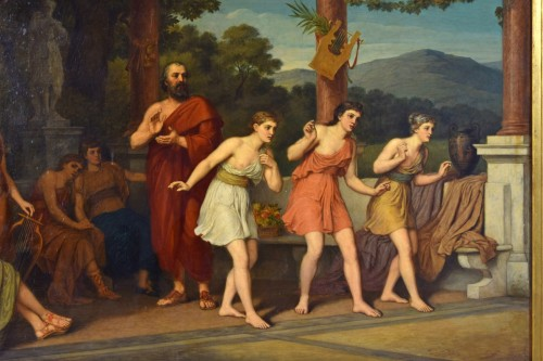 Paintings & Drawings  - John Raphael Smith (1752-1812) -Dance in Ancient Greece