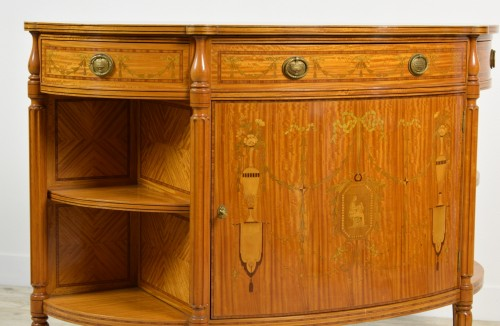 Furniture  - 19th Century English Satinwood Cabinet