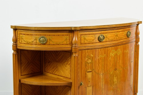 19th Century English Satinwood Cabinet -