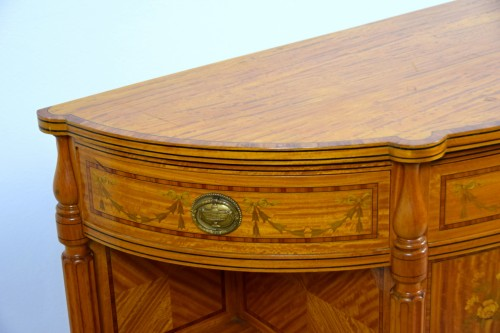 - 19th Century English Satinwood Cabinet