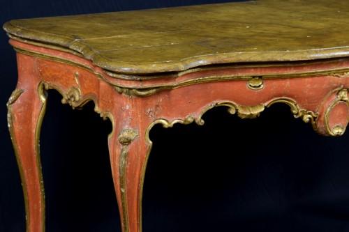 18th Century, Italian Baroque Wood Laquered Consolle -