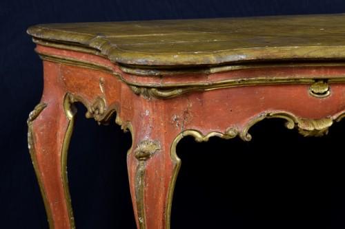 -  18th Century, Italian Baroque Wood Laquered Consolle