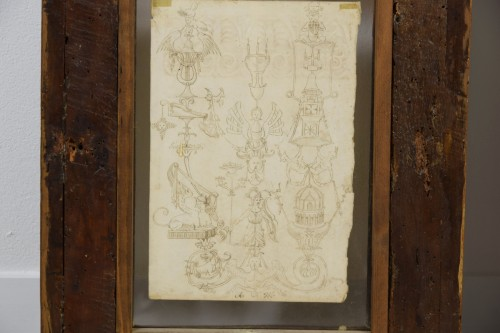 Louis XIV - 17th Century, Pair of italian ink drawings on paper with studies