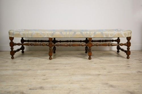 Seating  -  Rocchetto Walnut Bench, 19th Century