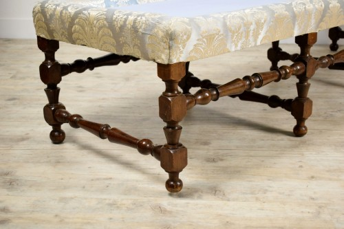 -  Rocchetto Walnut Bench, 19th Century