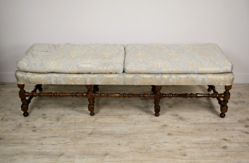 Antiquités -  Rocchetto Walnut Bench, 19th Century