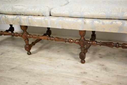 Antiquités -  Rocchetto Walnut Bench, 19th Century