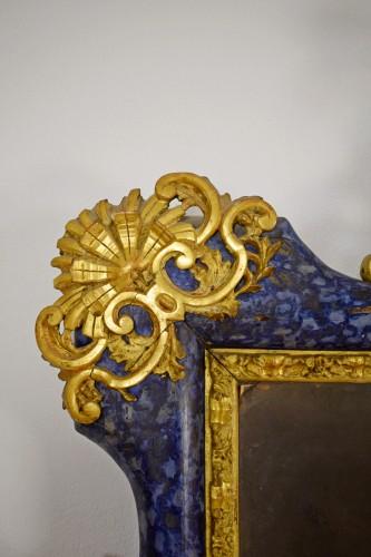 Antiquités - 18th Century, Italian Baroque Lacquered giltwood Mirror