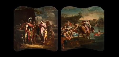 Paintings & Drawings  - Coriolano Veturia and Volumnia, Clelia crosses the Tiber - 18thc Italian painter