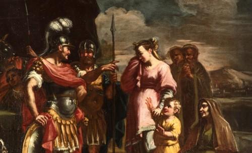 Coriolano Veturia and Volumnia, Clelia crosses the Tiber - 18thc Italian painter -