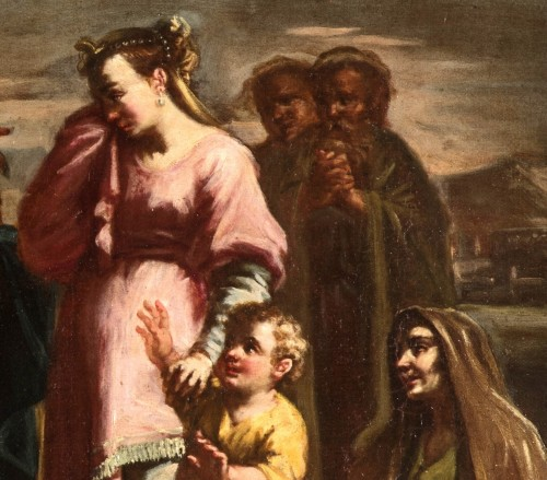- Coriolano Veturia and Volumnia, Clelia crosses the Tiber - 18thc Italian painter