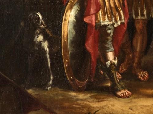 Antiquités - Coriolano Veturia and Volumnia, Clelia crosses the Tiber - 18thc Italian painter