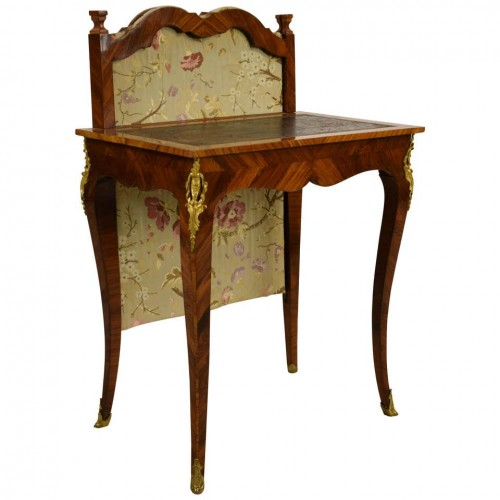 18th Century, French Louis XV Center Writing table with screen