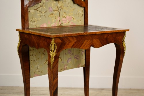 Furniture  - 18th Century, French Louis XV Center Writing table with screen