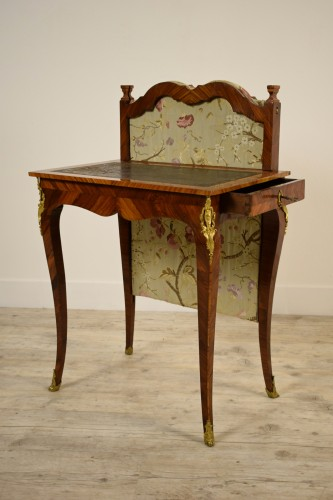 18th century - 18th Century, French Louis XV Center Writing table with screen