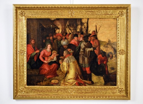 The Adoration of the Magi - 17th Cent. Flemish school - Paintings & Drawings Style