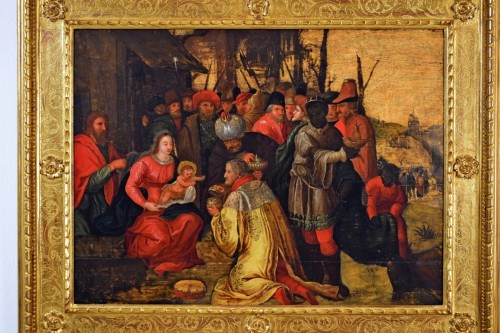 Paintings & Drawings  - The Adoration of the Magi - 17th Cent. Flemish school