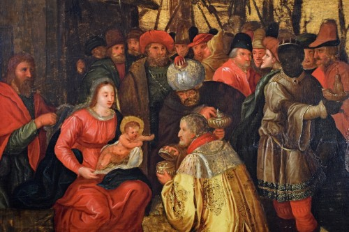 Antiquités - The Adoration of the Magi - 17th Cent. Flemish school