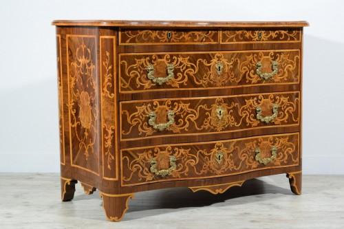 18th century - 18th Century, Italian Inlaid Cest of Drawers