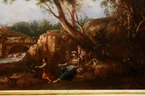- Pair of Archaic Landscapes - Attributed to Giuseppe Zais (1709-1784)