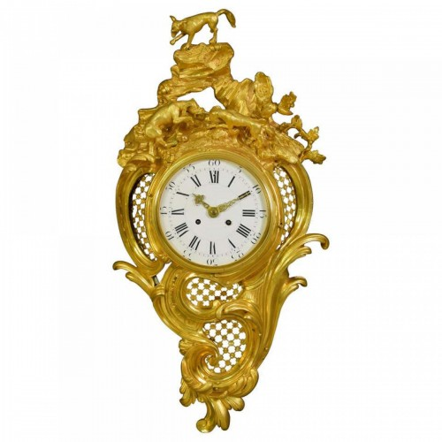 19th Century French gilt bronze Cartel clock
