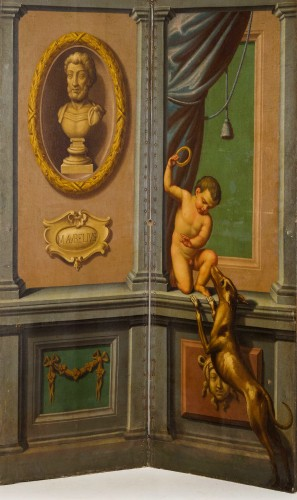 Decorative Objects  - 18th century Italian Neoclassical Screen with Trompe L'œil