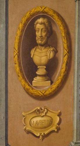 18th century Italian Neoclassical Screen with Trompe L'œil  -