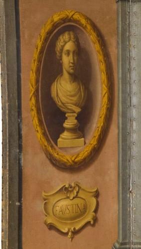 18th century Italian Neoclassical Screen with Trompe L'œil  - Louis XVI