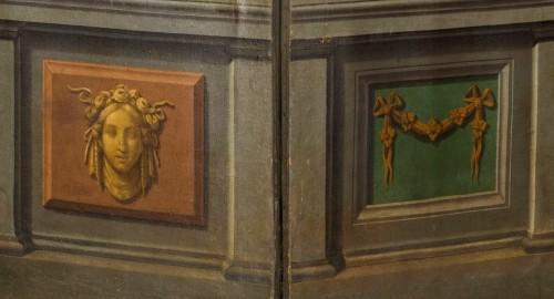 Antiquités - 18th century Italian Neoclassical Screen with Trompe L'œil