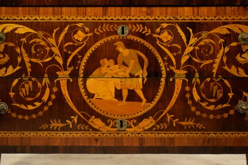 Furniture  - 18th century, Italian Neoclassical Inlaid Rosewood Chest of Drawers