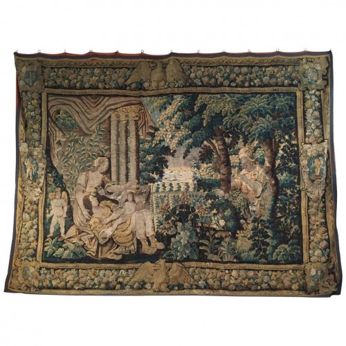 16th century, Flemish Storied Wool Tapestry