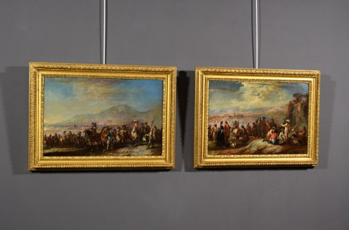 "The rest"" and the march of soldiers - Francesco Simonini (1686 - 1766)  - Paintings & Drawings Style"