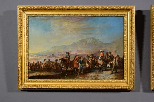 "Paintings & Drawings  - The rest"" and the march of soldiers - Francesco Simonini (1686 - 1766)"